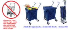 Swivel-Wheel Cart (Folds like Baby Stroller)